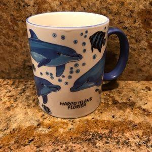 Dolphins Sea Creatures Ceramic Coffee Mug 16oz